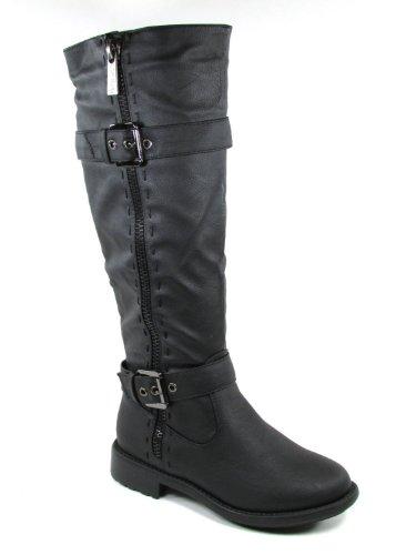 Top Moda Fab 5 Womens Knee High Buckle Riding Boots BLACK,Fab-5 Black 6.5 by Top Moda