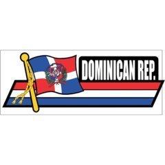 (Standard Flag Car Auto Sidekick Trunk Bumper Fender Window Decals Stickers - America (Country: Dominican Republic))