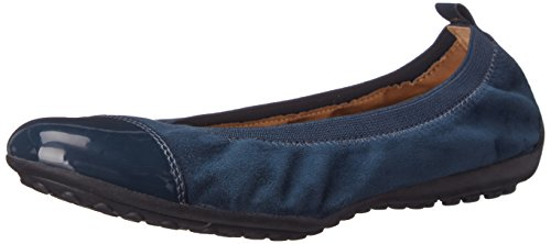 ller36 Ballet Flat, Ocean Blue, 38 BR/8 M US (Geox Leather Flats)
