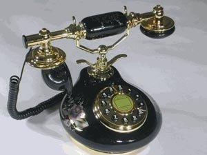 (8809-HT Porcelain Phone BLACK)