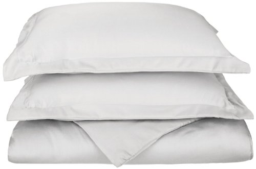 Amazon Lightning Deal 60% claimed: Luxury Duvet Cover Set 600 Thread Count Cotton Rich Full/Queen  White