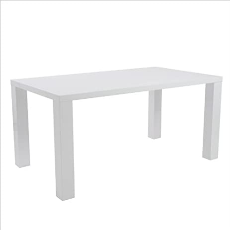 Exceptionnel Eurostyle Abby 63u0026quot; Rectangular Dining Table In White Lacquer