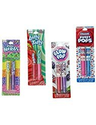 4 Candy Flavored Lip Gloss - Nerds, Laffy Taffy, Charms Blow and Sweet Pops