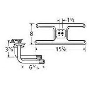 10502-75812 Stainless Steel Burner Replacement for Gas Gr...