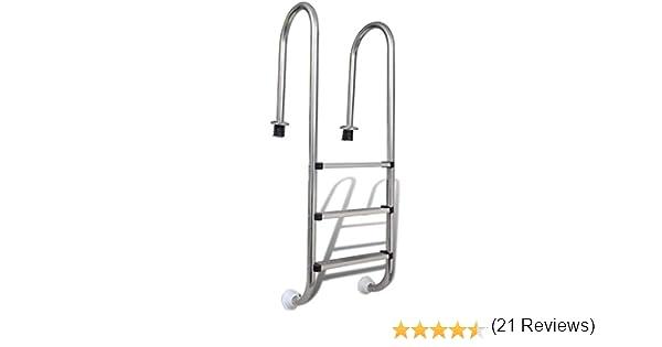 vidaXL Escalera Piscinas 3 Peldaños Acero 120 cm Escalinata Escala Spa Jacuzzi: Amazon.es: Hogar