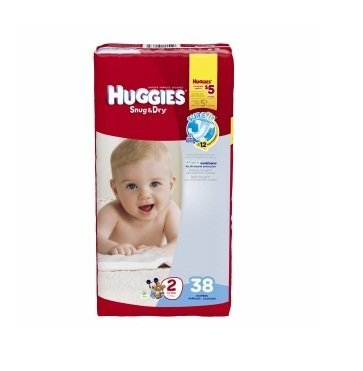 Huggies Snug and Dry Diapers - Size 2 - 38 ct