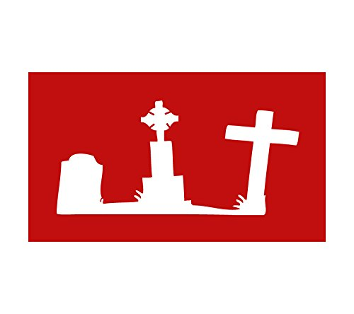 Auto Vynamics - STENCIL-ZOMBIES-GRAVEYARD - Graveyard / Tombstones Individual Stencil from Detailed Zombie / Undead Stencil Set! - 10-by-6-inch Sheet - Single Design ()
