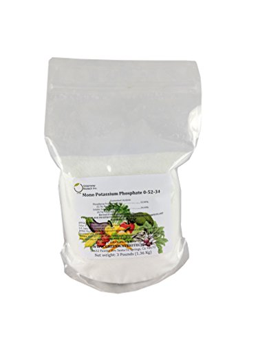Monopotassium Phosphate Fertilizer 0-52-34 100% Water Soluble HydroponicsGreenway Biotech Brand 3 Pounds