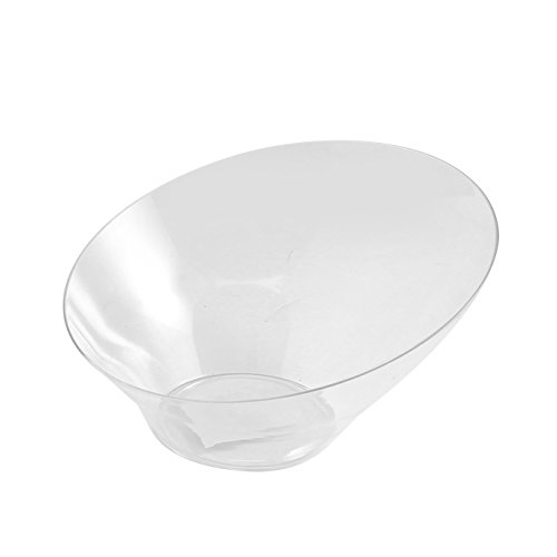 Party Bargains Hard Plastic Angled Large Serving Bowls, Color: Clear, Value Pack of (Large Party Bowl)
