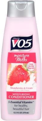 Alberto VO5 Moisture Milks Moisturizing Conditioner Strawberries & Cream, 12.5oz (Pack of 3)
