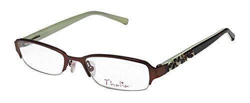 Thalia Brillante Childrens/Kids/Girls Designer Half-rim Eyeglasses/Glasses (48-17-130, Brown / Tortoise / - In Are Glasses Rim Half Style