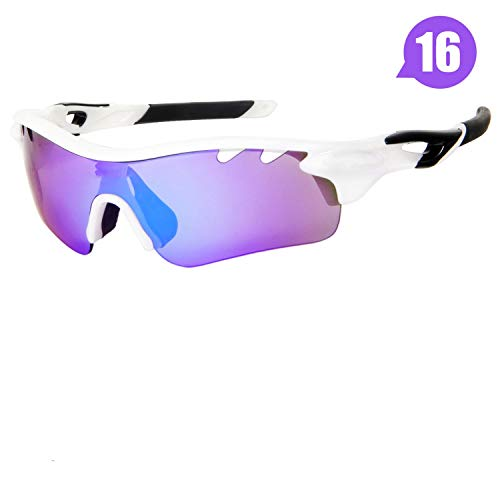 - 5 Lens Tour De France Polarized Cycling Sunglasses Bike Goggles Bicycle Glasses Outdoor Sports Hiking Riding Eyewear,16
