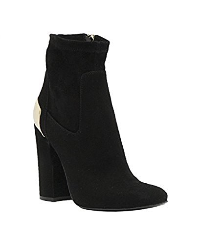 Metallic Trim Boot - Baldan Italian Designer Suede Inside Zippered Ankle Boot with Metallic Trim