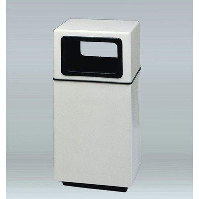Bradley 25-Gal Side Load Industrial Trash Bin Color: Rosewood (Rosewood Wastebasket)