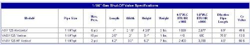 Firefighter Gas Safety AGV-125 1-1/4'' Horizontal Valve