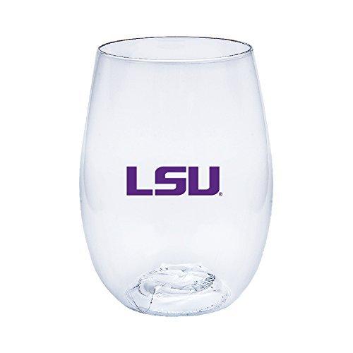 Louisiana State University (LSU) Tigers Govino Shatterproof Wine or Beverage Glasses - Boxed set of - Glass Wine University State