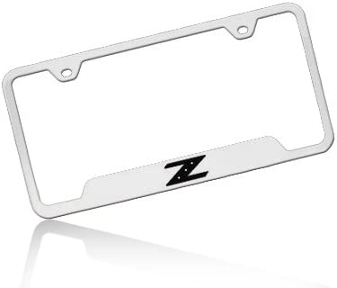 Nissan 350Z Z Polished Steel License Plate Frame