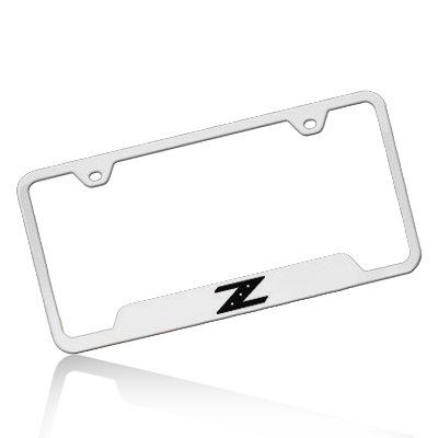 350z License Plate Frame - Nissan 350Z Z Polished Steel License Frame