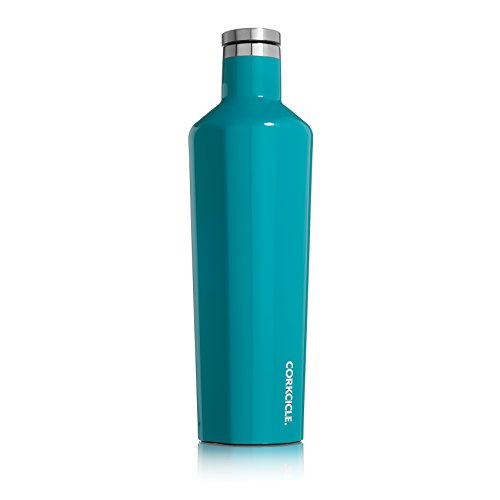 Corkcicle Canteen Classic Collection-Water Bottle & Thermos-Triple Insulated Shatterproof Stainless Steel, 25 oz, Gloss Biscay Bay
