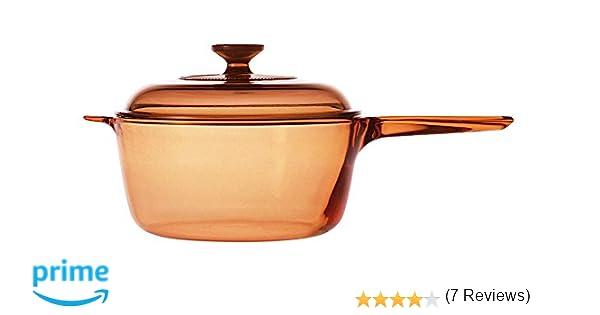 VISIONS - Cazo de Vidrio Pyroceram, de 2,5 litros, Color marrón ...