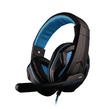 OVANN X2 3.5mm Stereo Headset with Microphone Volume Control for PC GAMING - Tablet Accessories Tablet Speakers & Earphones - (Black & Blue)