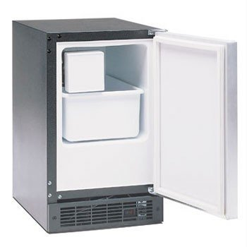 Marvel 15IMBBFR: Marvel Ice Machines - 15IM. Right Hinge, Black cabinet, BLACK full wrap door and bar handle. Manual defrost.. No drain required. 15