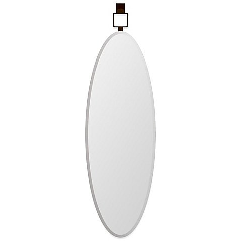 Door Solutions Oval 18-Inch x 54-Inch Over-the-Door Mirror in Bronze (Full Oval Mirror Wall Length)