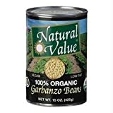 Natural Value Organic Beans Garbanzo 12x 15Oz
