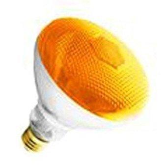(6 Pack) 100BR38/AMBER - 100 Watt BR38 Amber Flood Light -