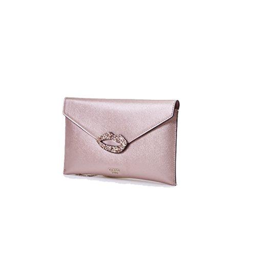 ecopelle MH686228 Collezione 2018 Colore Donna Primavera BLUS h17 Clutch 30 Larg Ever Rosa Envelope Estate Pochette in Guess Nuova After zWqnaH6B1