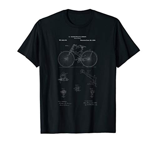 afef64dd4ae Vintage Bicycle Patent Print by Hanson & Robben 1890 T-Shirt