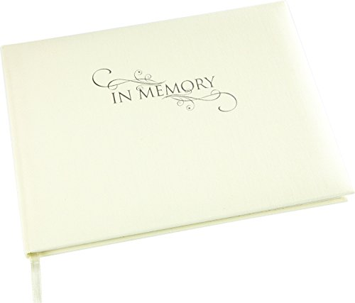 Esposti in Memory Book - Cream Linen Cover - in Loving Memory - Funeral Guest Book - Memorial Book - Condolence Book - (Large Size - Width 10.5 inch - Height 7.6 inch - Depth 0.6 inch) (Detailed Visitor Register Book)