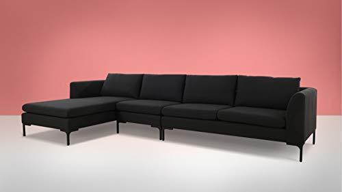 Amazon.com: Sandy Wilson Home Weylyn Chaise Sectional Sofá ...