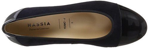 Closed Ballet Black Ocean Weite Hassia Blue Women's Anthracite Fermo 3000 5 UK Flats G Toe 4 xYxBHFwqn