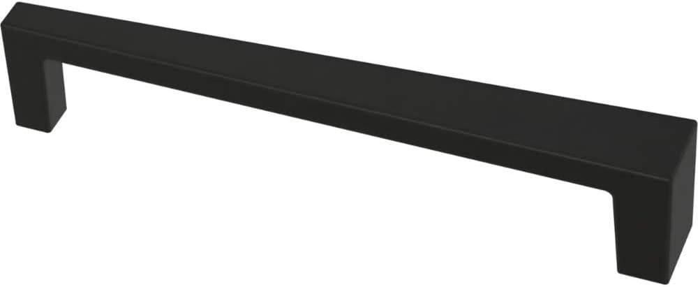 Franklin Brass P40829K-FB-C Angled Kitchen or Furniture Cabinet Hardware Drawer Handle Pull, 5-1/16-Inch (128mm), Flat Black, 10-Pack