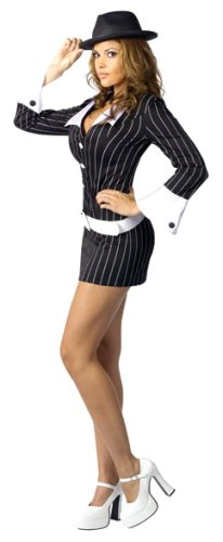 [FunWorld Women's  Gangster, Black, M/L 10-14 Costume] (Sexy Haloween Costumes)