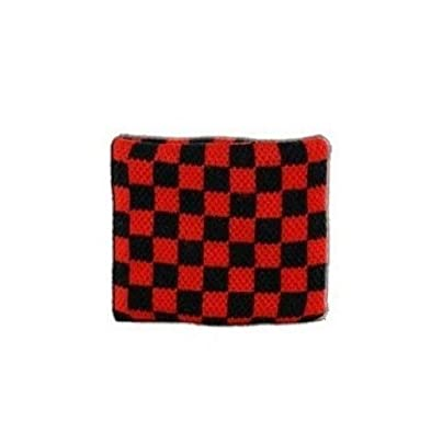 Checkered red-black Wristband sweatband Estimated Price -
