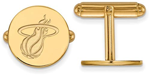 (Gold-Plated Sterling Silver NBA Miami Heat Cuff Links by LogoArt)
