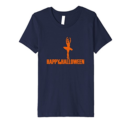 Ballerina Witch Adult Costume (Kids Happy Halloween Witch Ballerina Fun Novelty Costume T Shirt 6 Navy)