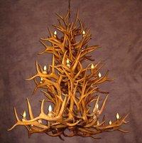 (Reproduction Antler Elk/Whitetail/Mule Deer Chandelier Light Xlarge)