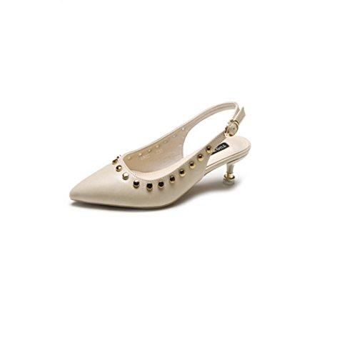 CXSM shoes elegante remaches en fino y volver a fuera de cabezal white