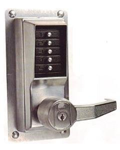 Kaba Simplex LP1020 Lever Mechanical Pushbutton Lock Key Bypass Rim Exit Device (Series 22 Exit Device)