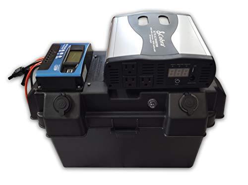 Cutting Edge Power 1,500W Solar Generator, Portable Wind Solar Battery Box w Inverter