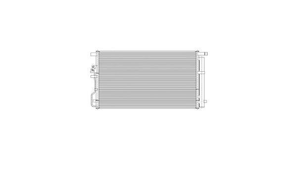 New Aluminum Parallel Flow AC Condenser For Hyundai Tucson HY3030165 2016-2017