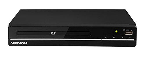 MEDION LIFE E71021 (MD 80036) DVD Player, HDMI-Anschluss, USB Schnittstelle, abwärtskompatibel zu den gängigen MPEG4 Videoformaten, mehrsprachiges OSD, schwarz