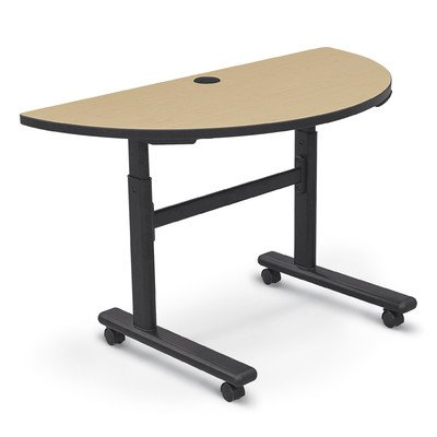 Height Adjustable Half-Round Flipper Training Table Color: Fusion Maple ()