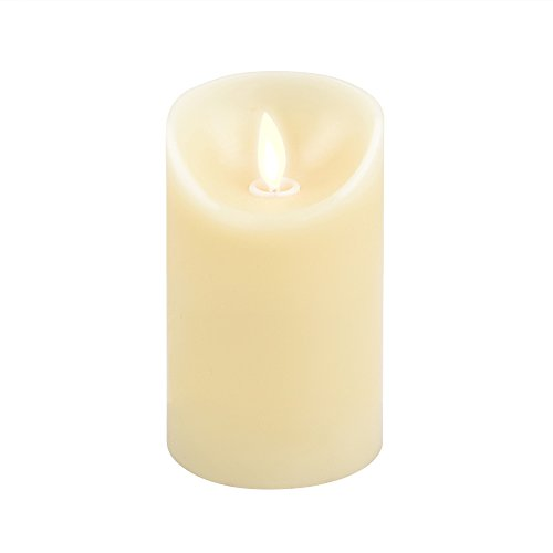 iDOO Real Wax Flameless LED Candle Moving Wick with Velvety Vanilla Scent for Home/Party/Hallowe ...
