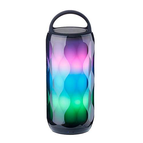 Lyperkin ナイトライト Bluetoothワイヤレススピーカー ポータブルワイヤレスBluetoothスピーカー タッチコントロールスピーカー 6色LEDテーマ AUX/TFカード対応 ハンズフリー通話 あらゆるシーンで活躍 B07HCMH42S