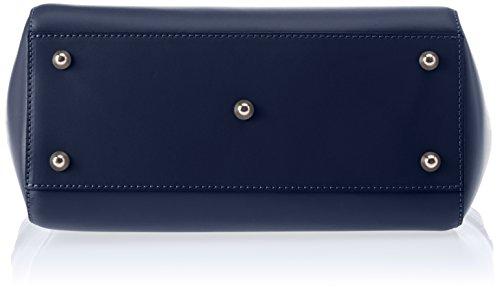 Chicca Borse 8807 Borsa A Spalla Donna 36x24x13 Cm w X H L Blu blue