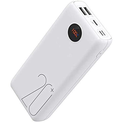 XBRMMM Power Bank 20000mAh, Cargador Portátil Tipo C PD con Indicador LED Batería, Carga Ajuste 18W, 3 Salidas Y 3…